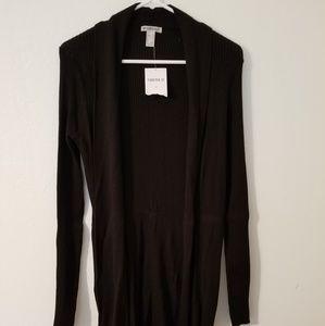 Forever 21 black long cardigan